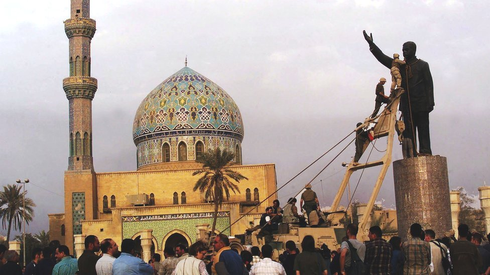 Toppling of Saddam Hussein's statue in 2003