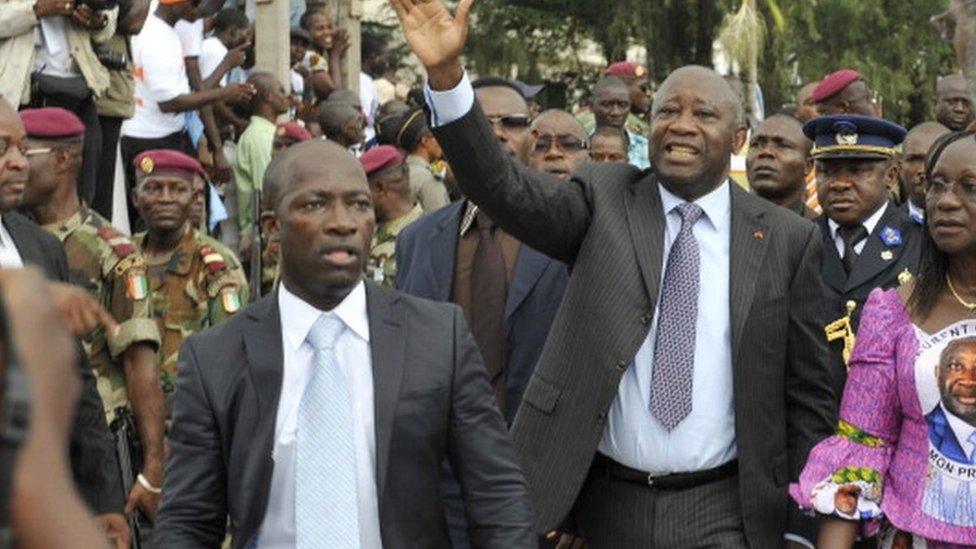"""Laurent Gbagbo et Blé Goudé peuvent désormais se """"déplacer"""" selon la CPI -  BBC News Afrique"""
