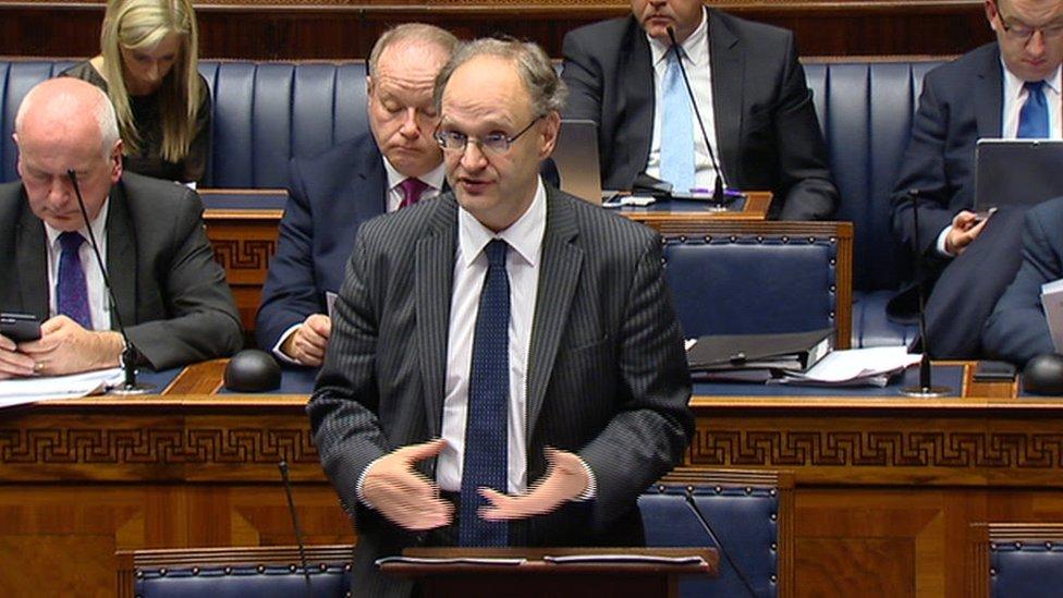 Peter Weir speaking at Stormont