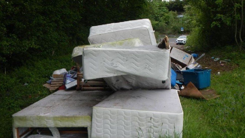 Fly-tipped waste in Hertfordshire