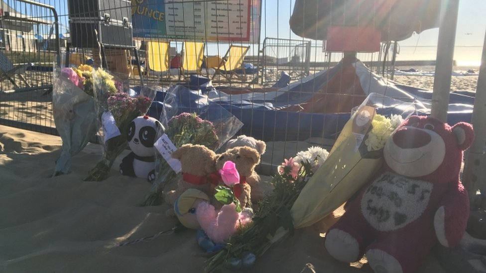 People have been leaving tributes to the girl at the scene