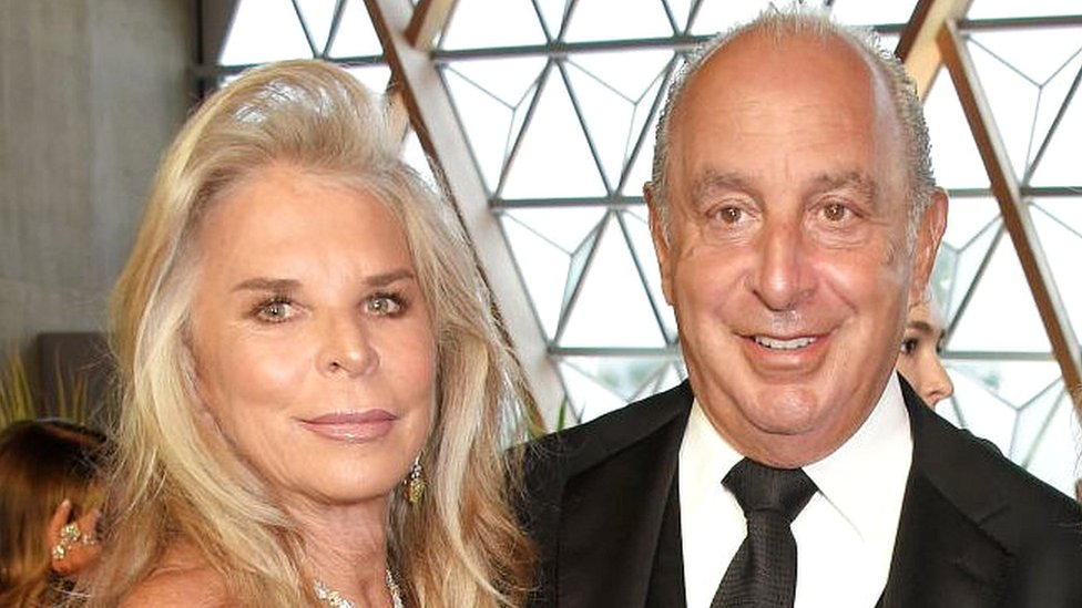 Sir Philip Green and Lady Cristina Green