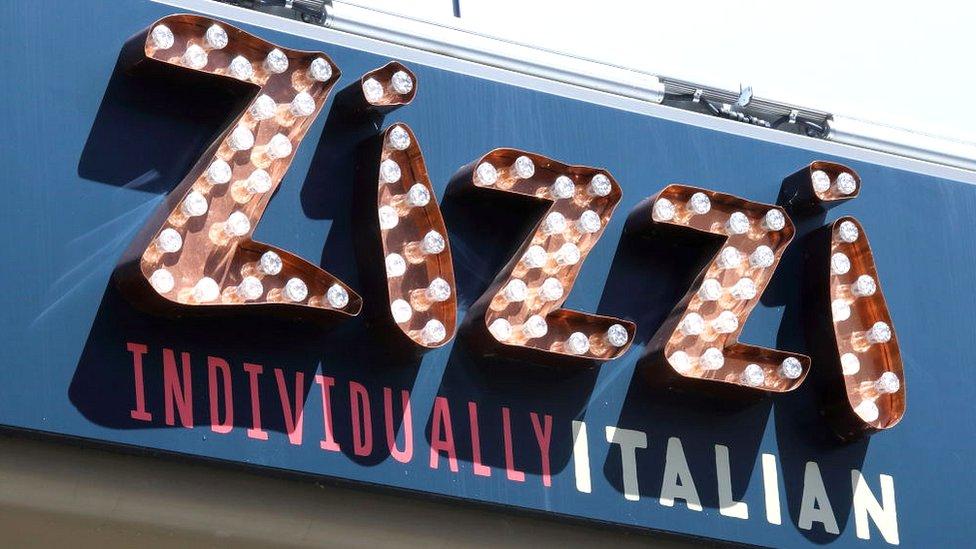 Zizzi sign