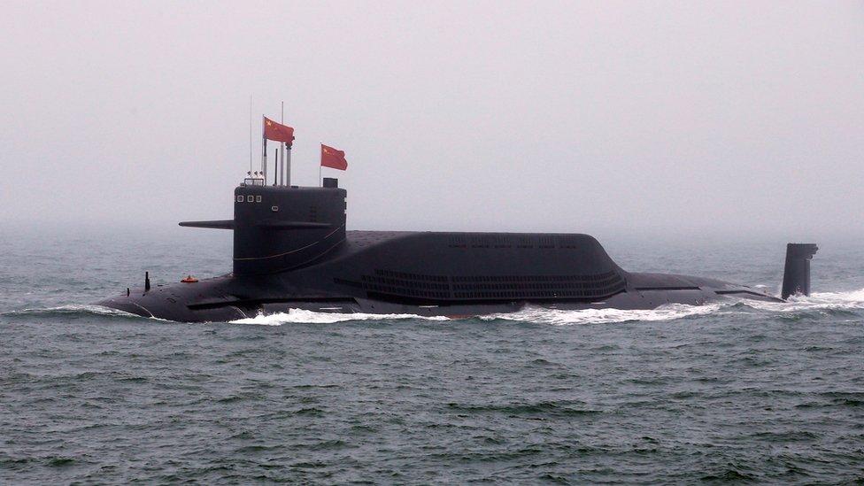 首次亮相的中國核潛艇長征11號