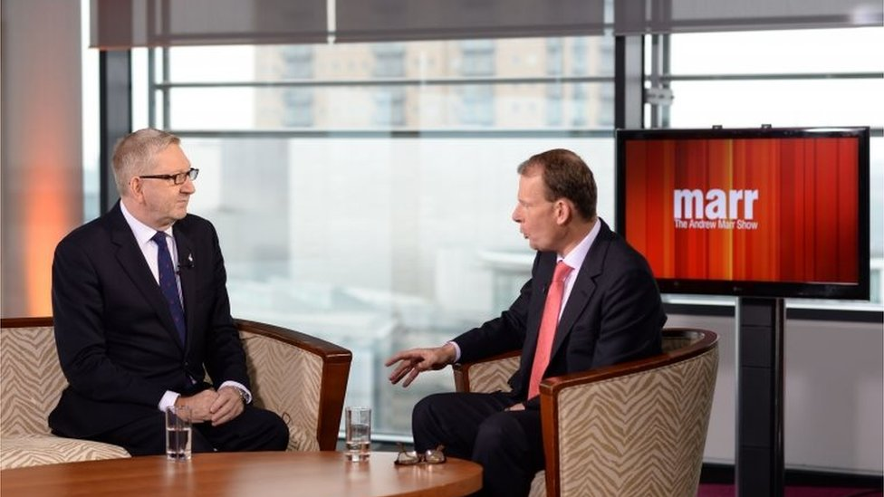 Len McCluskey and Andrew Marr