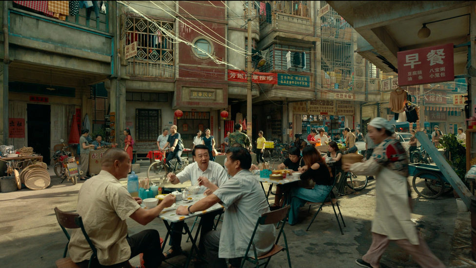 A scene from a TV show from Chinese streaming service Tencent Video