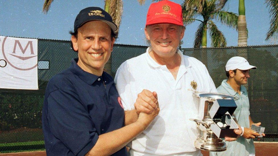 Michael Milken y Donald Trump