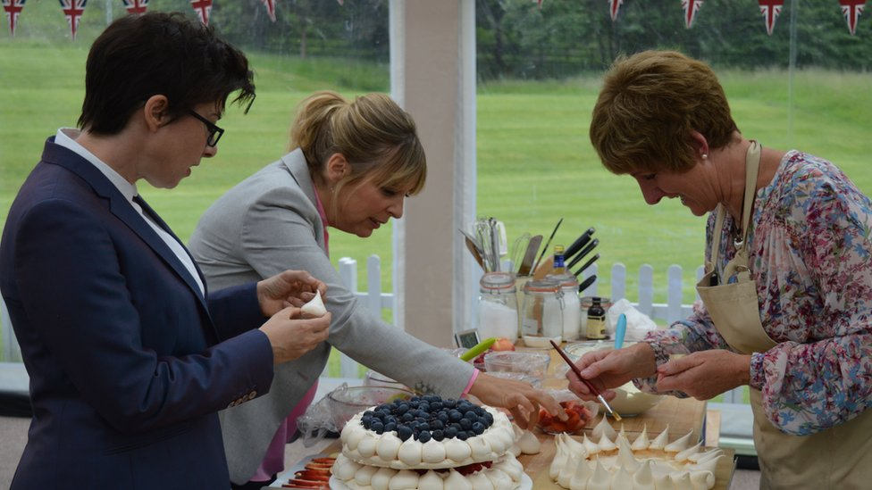 Mel, Sue and Bake Off runner-up Jane