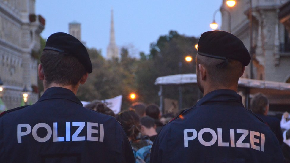 Austrian police, file pic, 11 Oct 18