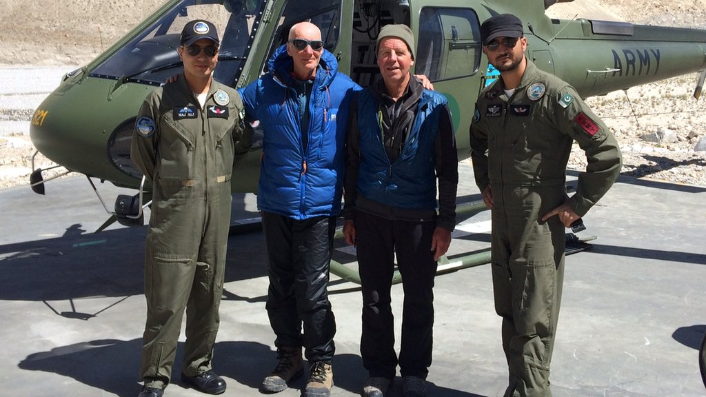 Drone spots Scots climber feared dead in Himalayas