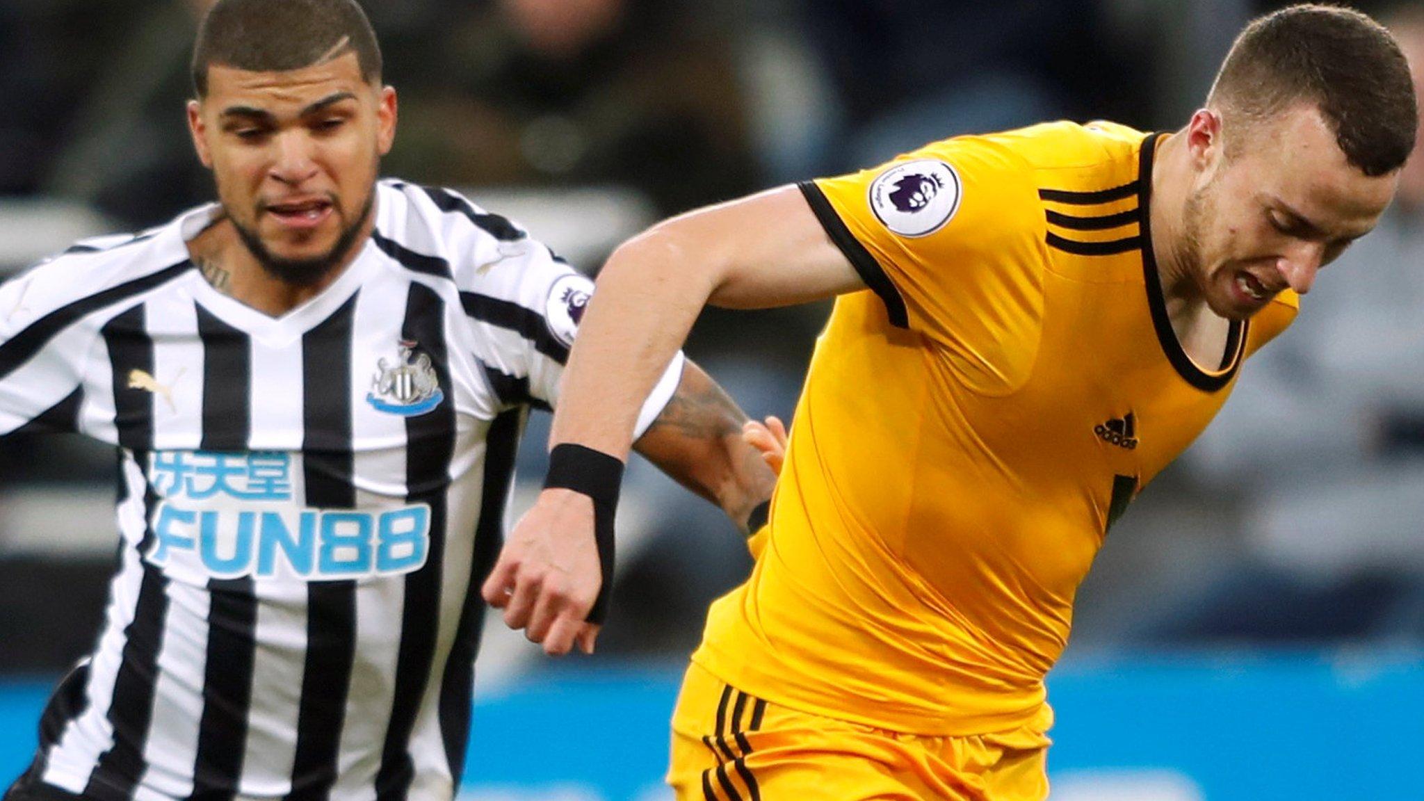 Newcastle 1-2 Wolves: Visitors score 95th-minute winner against 10 men