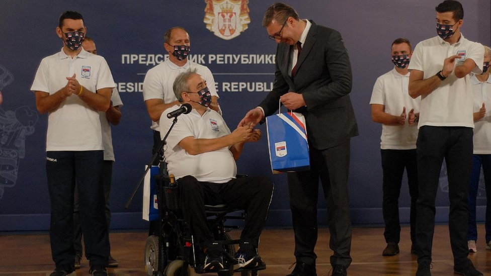 paraolimpijci i Vučić