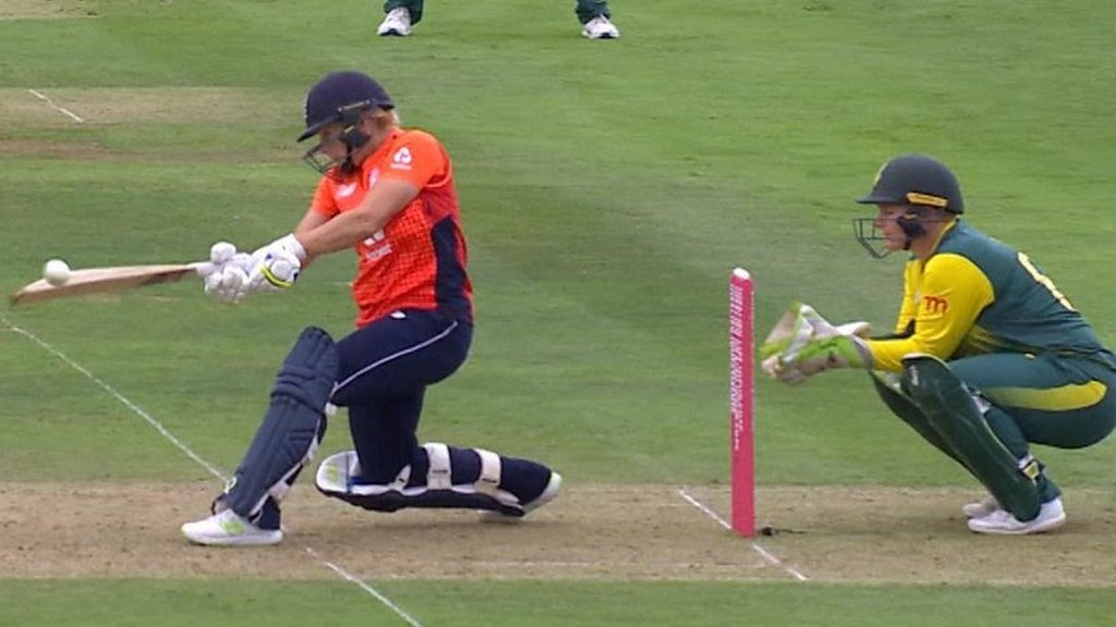 England v South Africa: England break record for women's T20 total