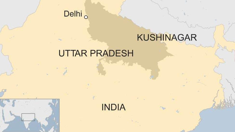 Map of Kushinagar, Uttar Pradesh
