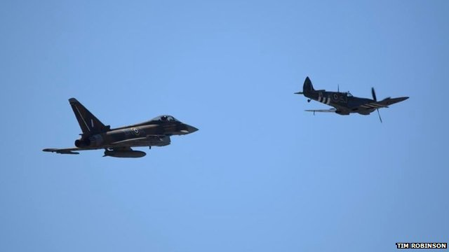 Typhoon and Spitfire