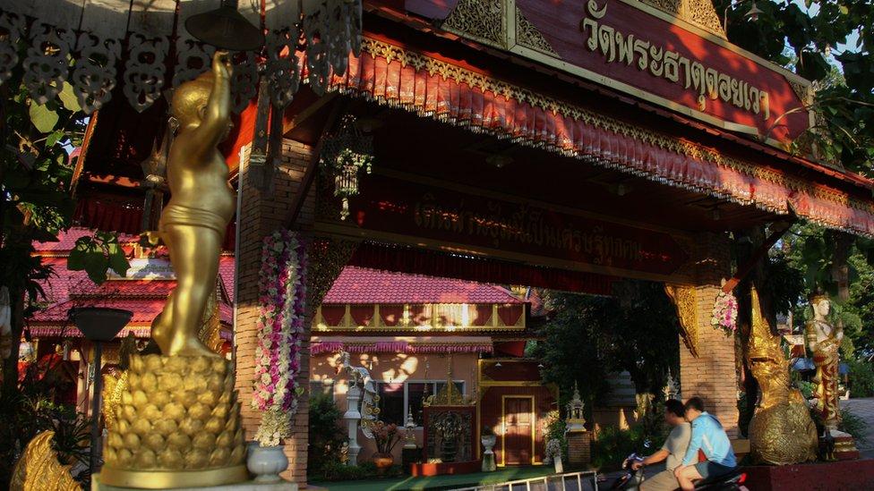 El templo Wat Phra That Doi Wao donde trabajaba el entrenador.