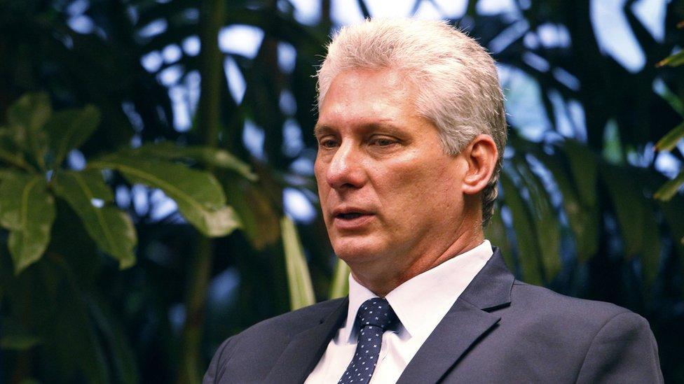 Miguel Díaz Canel, presidente cubano