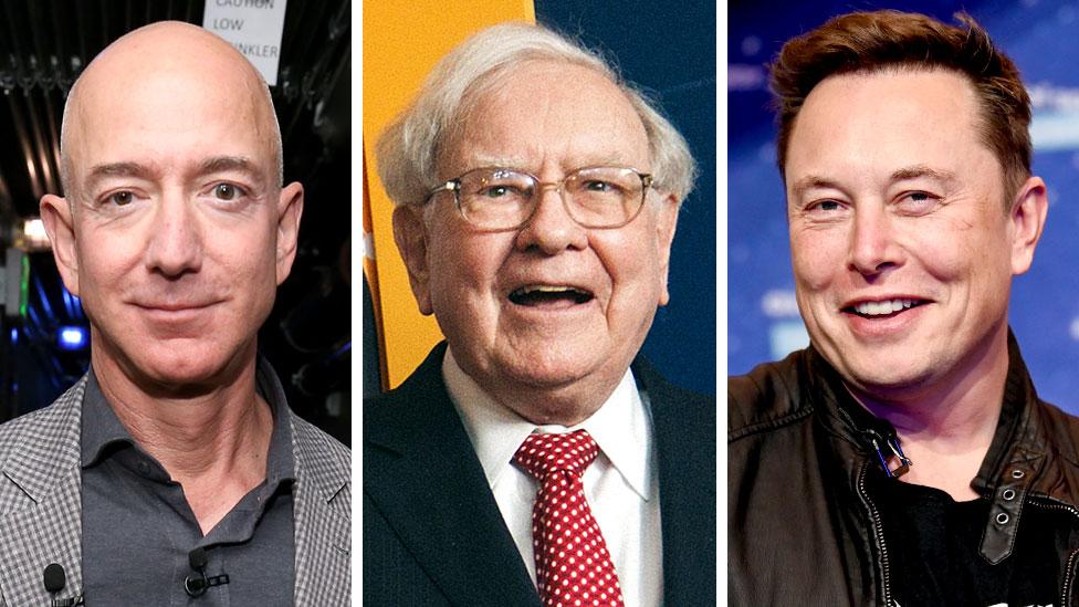 Jeff Bezos, Warren Buffet y Elon Musk