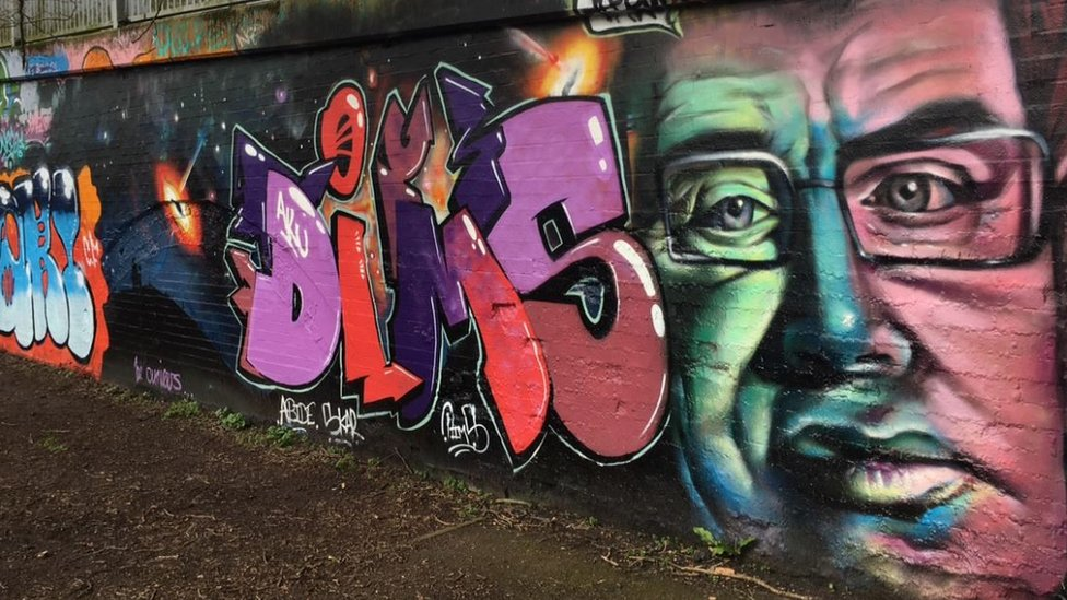 Graffiti of Stephen Hawking
