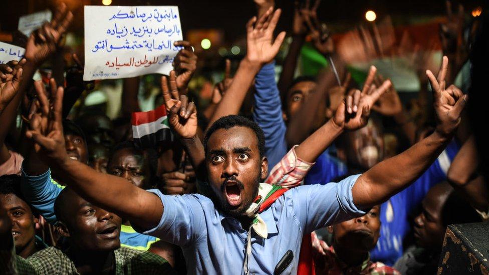 Pengunjuk rasa Sudan.