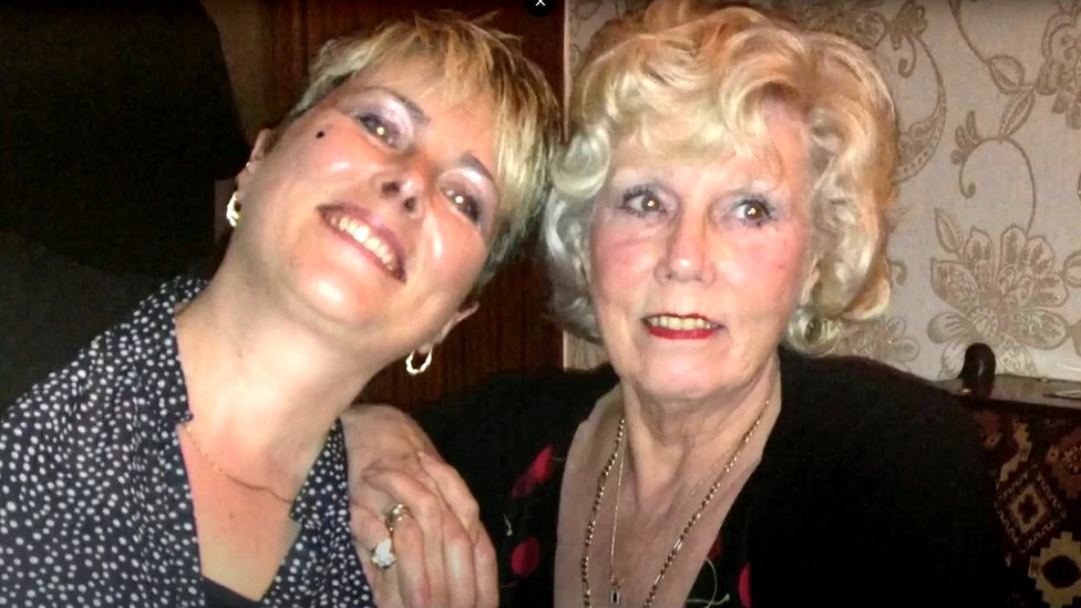 Wendy Fawell and mother