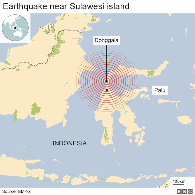 Epicentar zemljotresa u blizini ostrva Sulavezi u Indoneziji