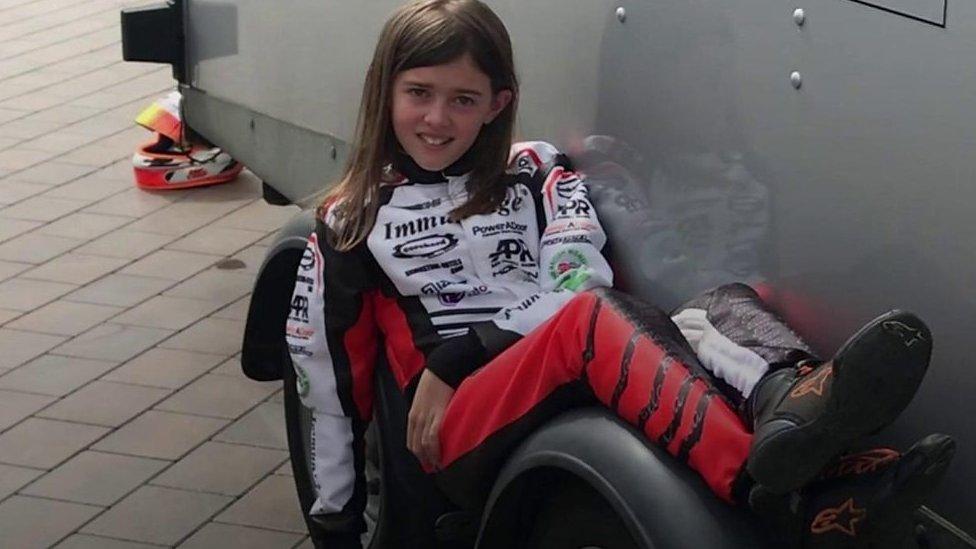 The 11-year-old racing karts at 60mph