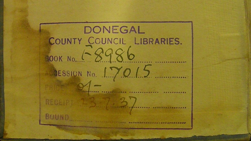 Donegal library book returned after more than 80 years