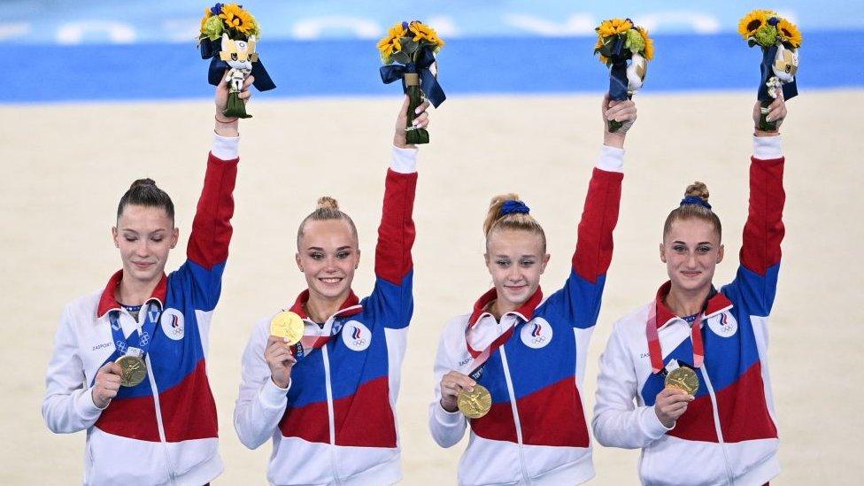 Equipo femenino de gimnasia de Rusia.
