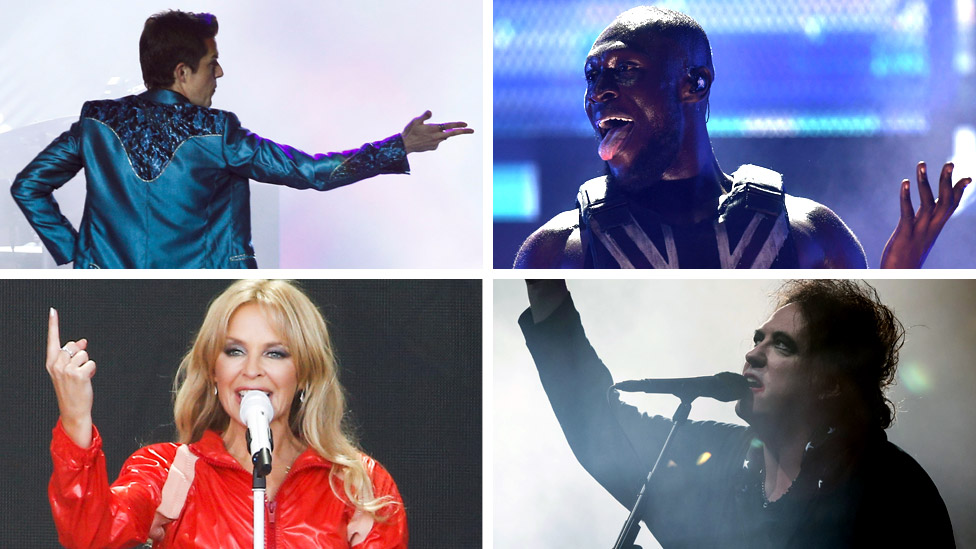 BBC News - The Killers, Stormzy, Kylie Minogue, The Cure - who won Glastonbury?
