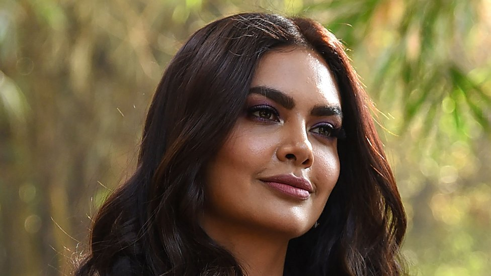 "Indian Bollywood actress Esha Gupta poses for photographs during the launch of her new music video ""Get Dirty"" in Mumbai on January 11, 2019"