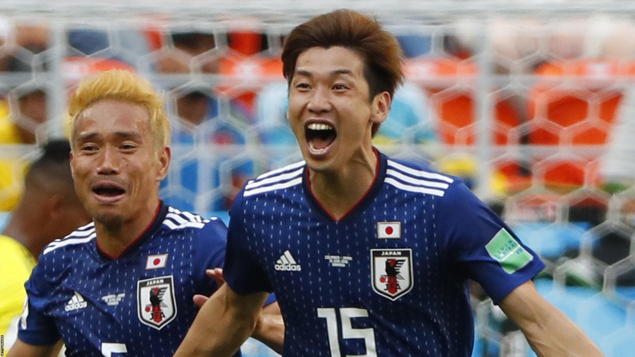 Japan beat 10-man Colombia - highlights & report