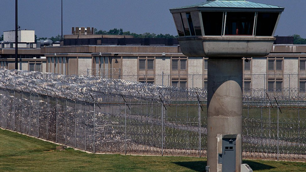 The exterior of a prison in Illinois
