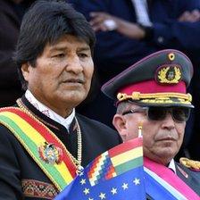 Evo Morales y Williams Kaliman
