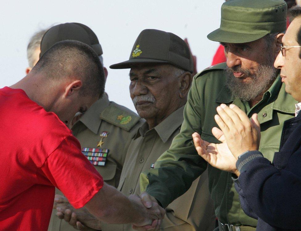Hassan con Fidel