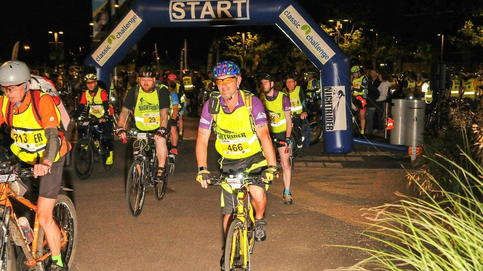 Cyclists saddle up for overnight ride