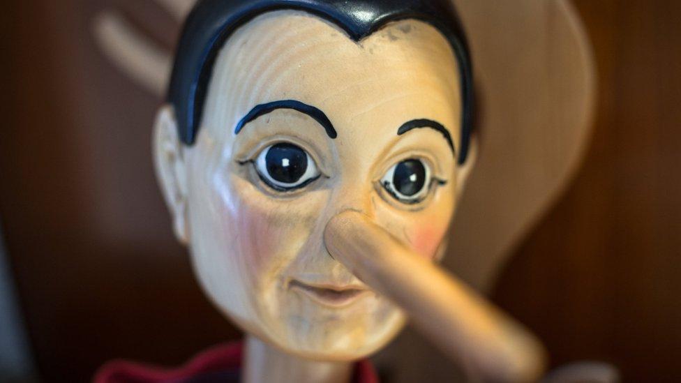 Model Pinokija sa velikim nosem