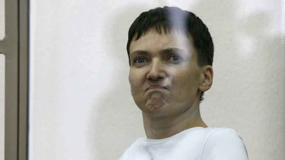 Hunger-striking Ukrainian military pilot Nadiya Savchenko on 9 March 2016