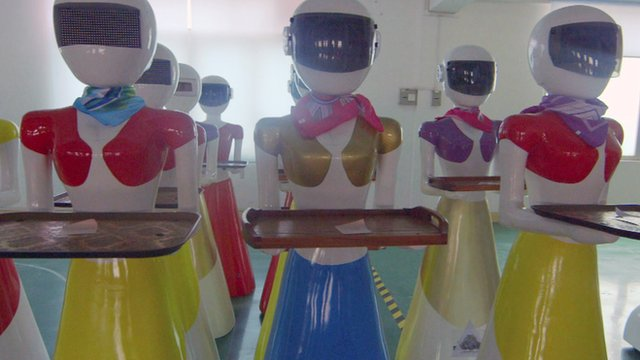 Robot waitresses