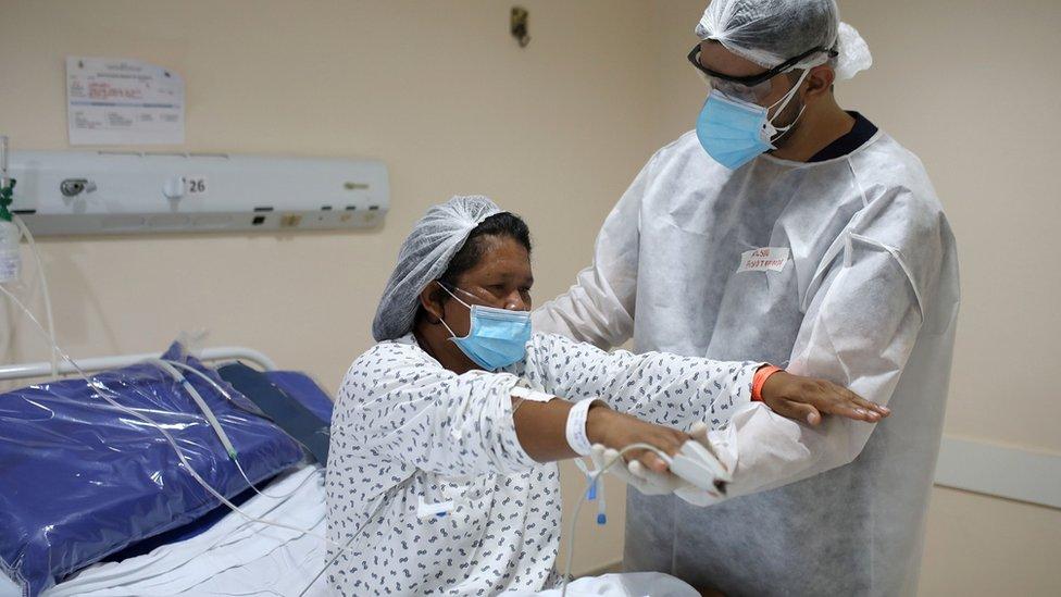 Paciente de covid en Manao.