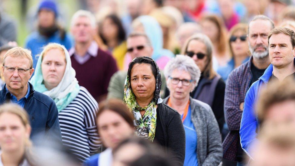 حفل تأبين ضحايا هجوم نيوزيلندا