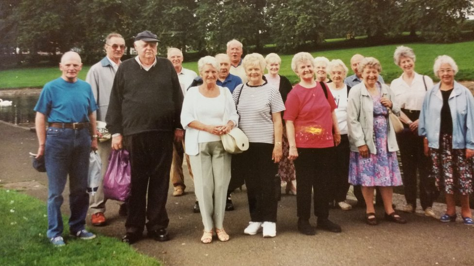 Henry (back left) on a trip to the Botanics with Rona's fitness club
