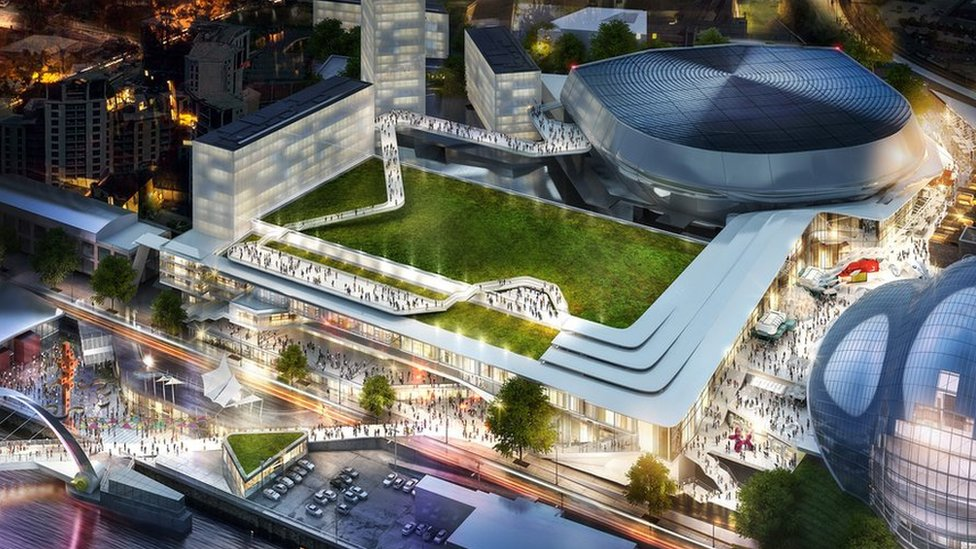 Gateshead Quays arts and leisure complex design revealed