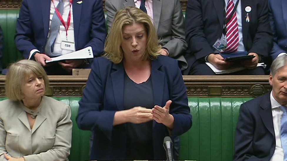 Penny Mordaunt uses British Sign Language in Commons first