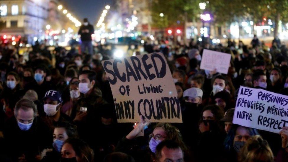 Una protesta en París