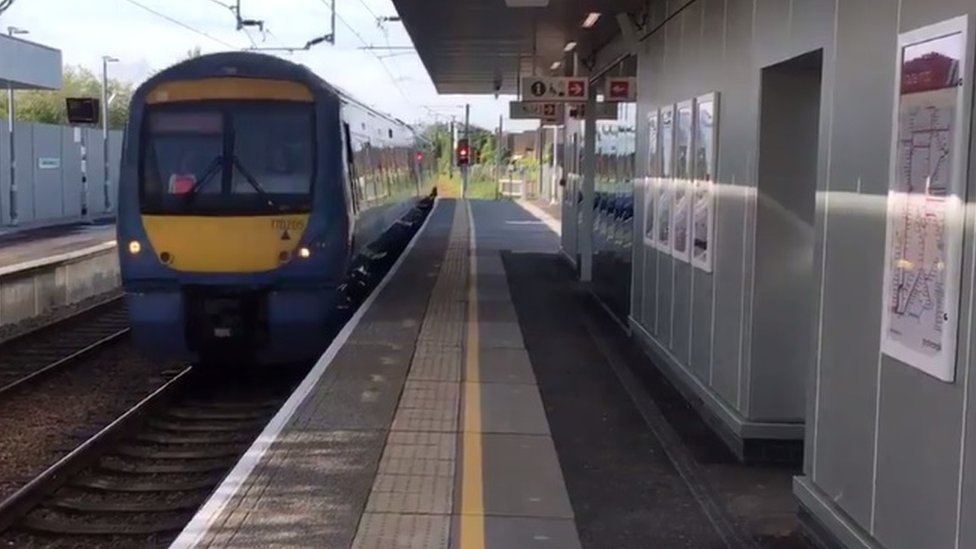 First train at new Cambridge North station
