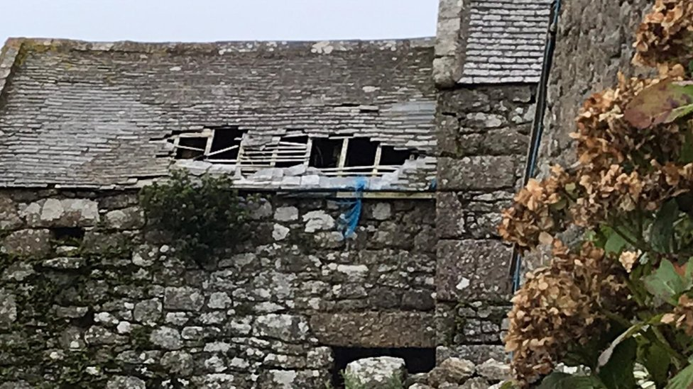 Botallack Manor roof damage