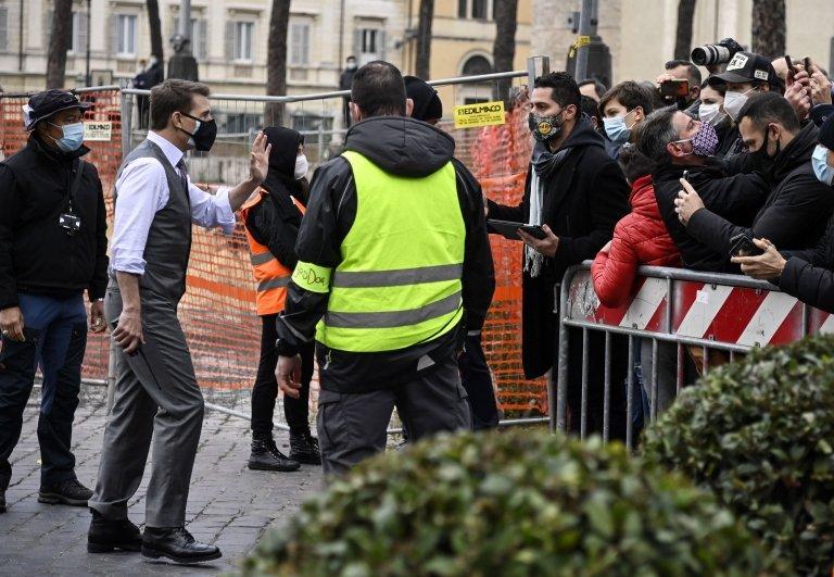 Tom Cruise, Görevimiz Tehlike çekimleri, Roma,