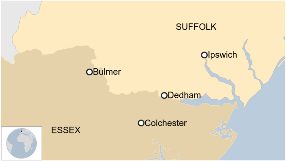 Map showing the boundary