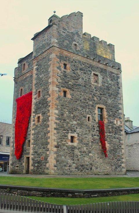 Poppies at Castle in Stranraer